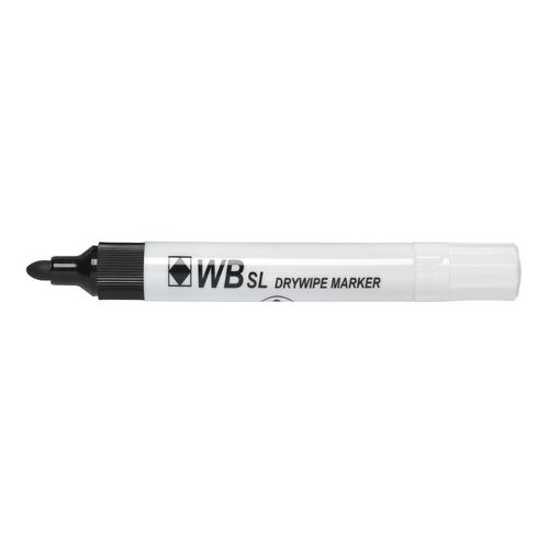 Value Drywipe Marker Bullet Tip Black PK10