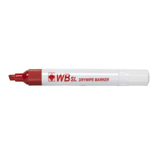 ValueX Drywipe Marker Chisel Tip Red (Pack 10)