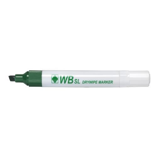 ValueX Whiteboard Marker Chisel Tip 2-5mm Line Green (Pack 10)