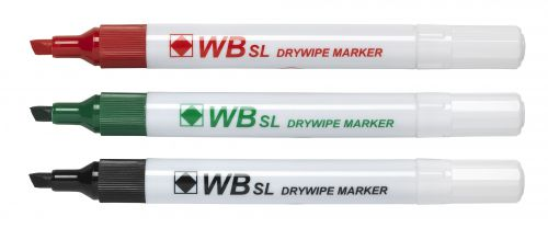 Value Drywipe Marker Chisel Tip Assorted PK4