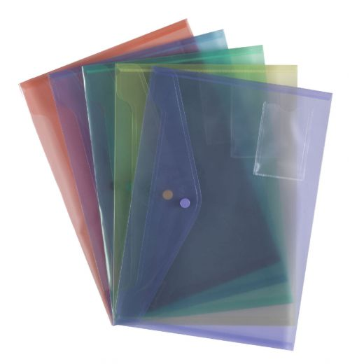 ValueX Popper Wallet Assorted Colours (Pack 5)