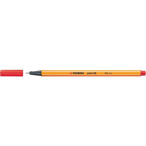 Stabilo Point 88 Pen Fineliner 0.4mm Red PK10