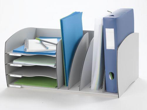 Fast Paper Desktop Organizer 4 Comp Grey