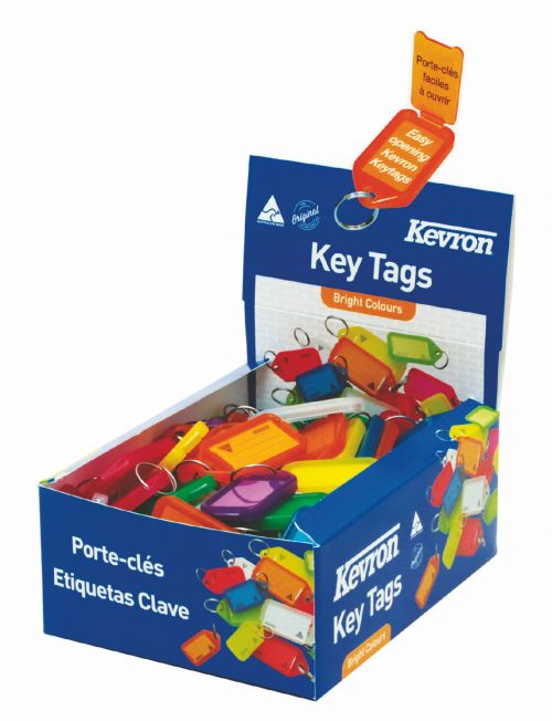 Kevron Keytags Plastic Tub Assorted ID5AC100Z (PK100)