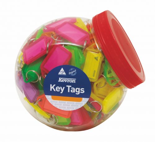 Kevron Keytags Plastic Tub Assorted ID5AC150Z (PK150)