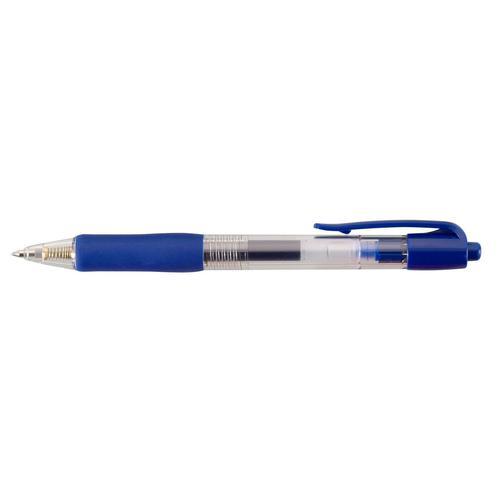 ValueX Retractable Gel Rollerball Pen 0.7mm Line Blue (Pack 10)