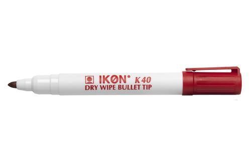 ValueX Whiteboard Marker Bullet Tip 2mm Line Red (Pack 10)