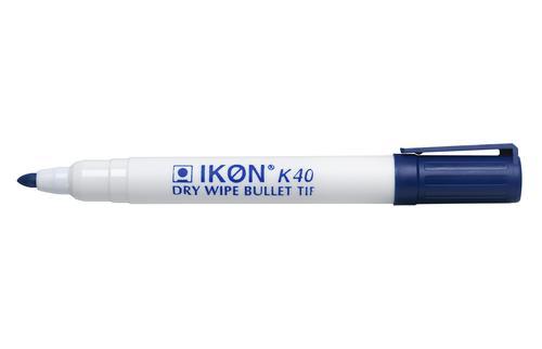 ValueX Dry Wipe Marker Bullet Tip Blue (Pack 10)
