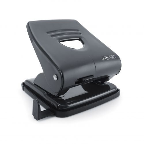 Rapesco 827 2-Hole Metal Punch 30 Sheet Black