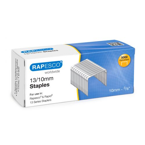 Rapesco 13/10mm Galvanised Staples PK5000