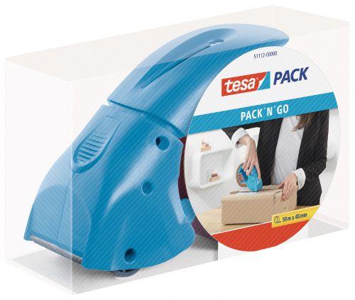 tesa Handheld Tape Dispenser for 50mm Tapes Blue 51112
