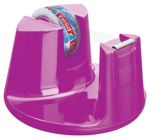 tesa Easy Cut Compact Dispenser Pink inc 1 roll 15mmx10m