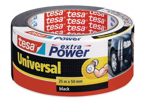 tesa Extra Power Duct Tape 50mmx25m Black 56388 PK6
