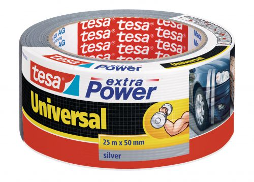 tesa Extra Power Duct Tape 50mmx25m Silver 56388 PK6