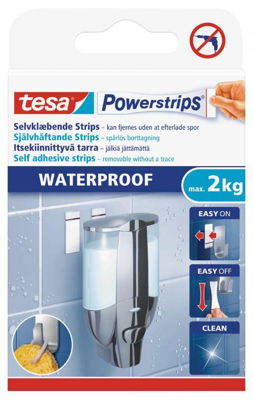 tesa Waterproof Powerstrips Large 59700 PK6
