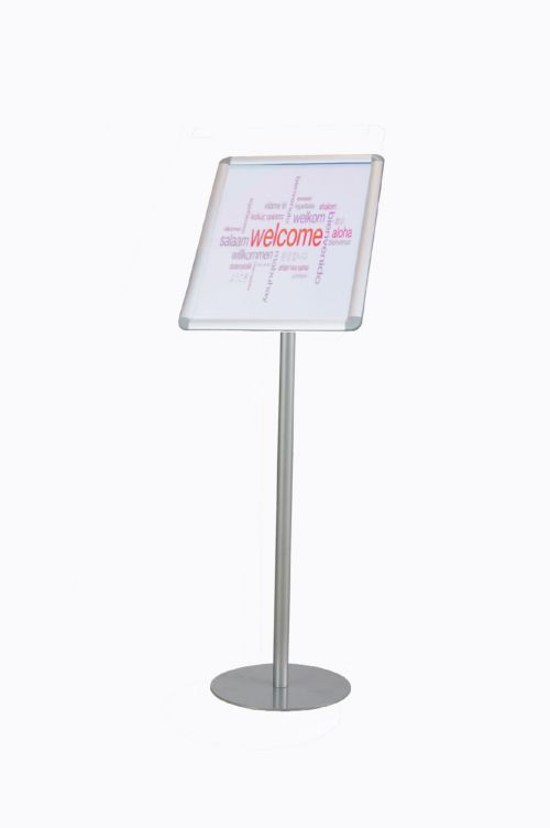 Twinco Agenda Literature Display Snap Frame Floor Standing A3 Silver