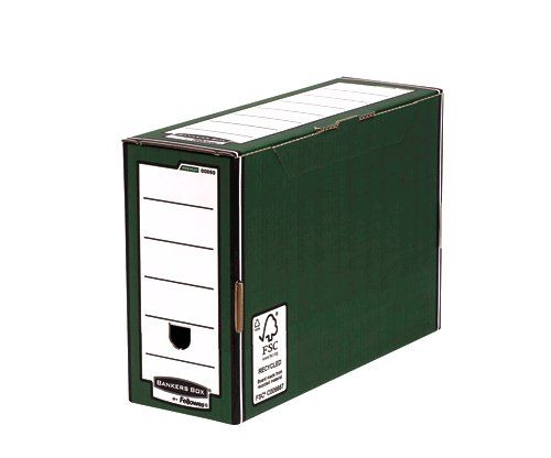Fellowes Bankers Box Premium Transfer File Green and White
