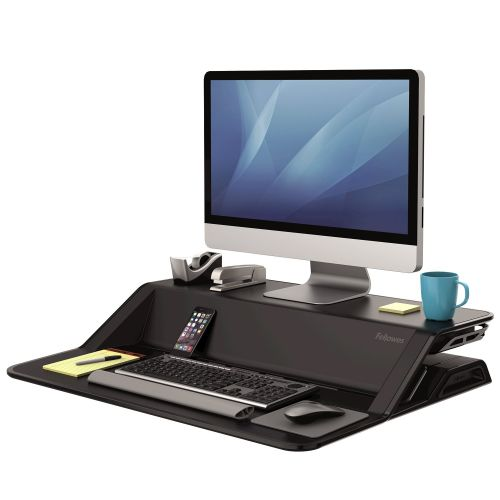Fellowes Lotus Sit Stand Workstation Black 0007901