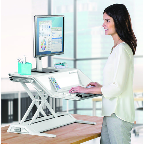 Fellowes Lotus Sit Stand Workstation White 0009901