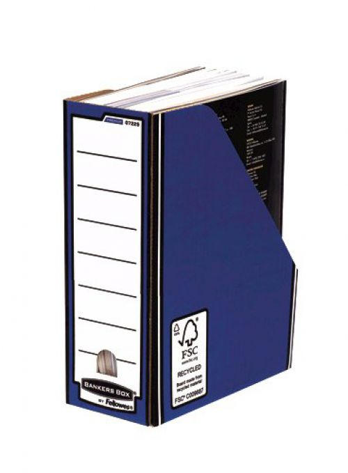 Fellowes Bankers Box Premium Magazine File Board Blue (Pack 10)