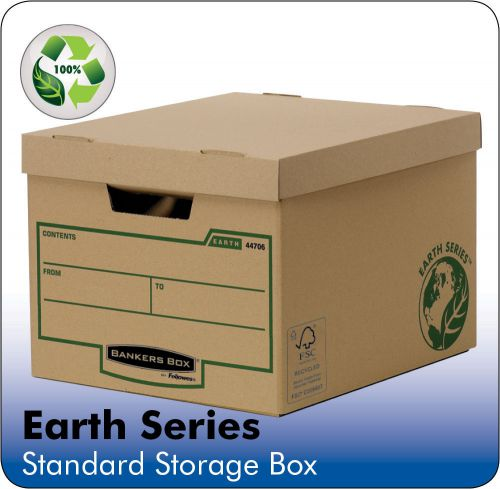 Bankers Box by Fellowes FSC Earth Series Standard Storage Box Brown Ref 4470601 [Pack 10]