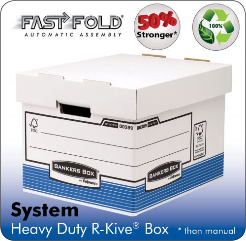 Bankers Box by Fellowes Heavy Duty Standard Storage Box FSC Ref 0081801 [Pack 10]