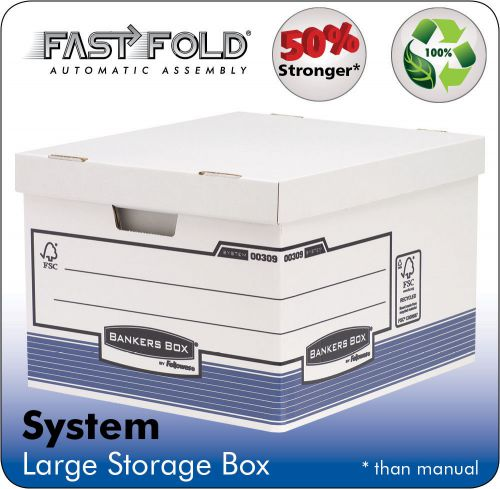 Bankers Box by Fellowes System Large Storage Box FSC Ref 01810-FF [Pack 10]