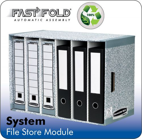 Bankers Box by Fellowes System File Store Module W580xD290xH400mm Grey Ref 01880 [Pack 5]