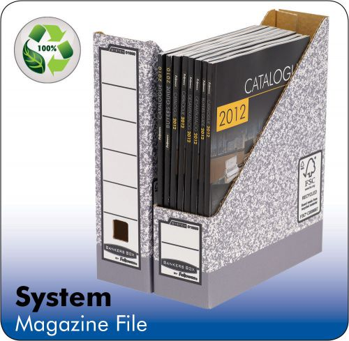 Fellowes Bankers Box System Magazine File Board Grey (Pack 10) 0186004
