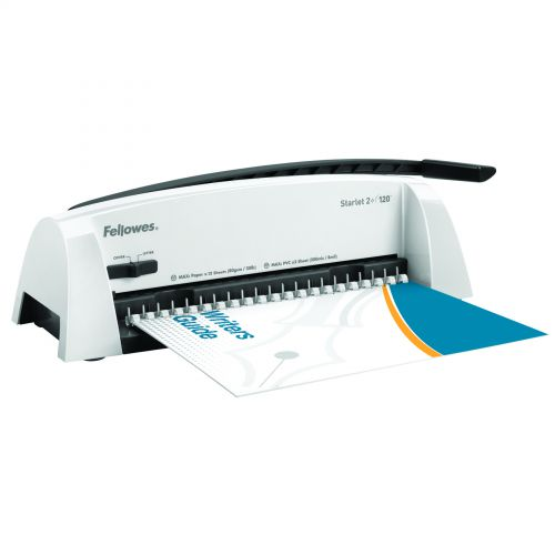 Fellowes Starlet 2plus Comb Binder Manual 12 Sheet Punch 120 Sheet Bind Max Comb 16mm Guide Ref 5227901