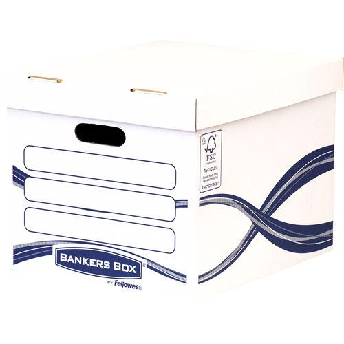ValueX Storage Box Board White and Blue (Pack 10)