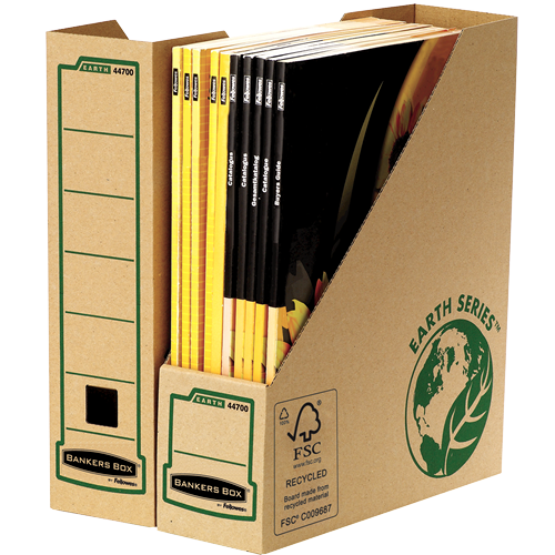 Bankers Box Earth Series Magazine File Brown (Pack of 20) 4470001