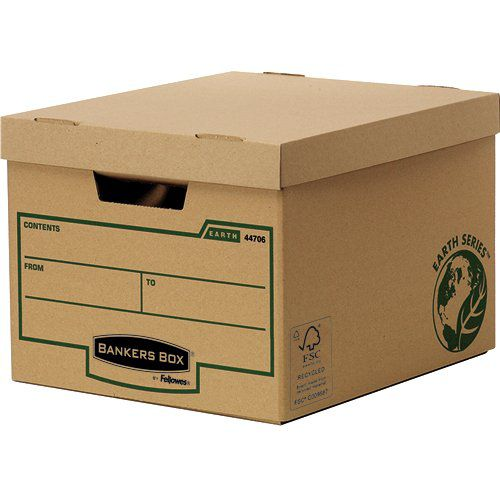 Fellowes Bankers Box Earth Series Standard Storage Box Board Brown (Pack 10) 4470601