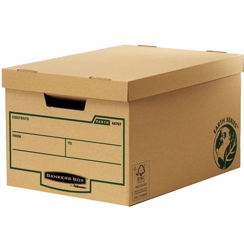 Bankers Box by Fellowes FSC Earth Series Storage Box Large Brown Ref 4470701 [Pack 10]