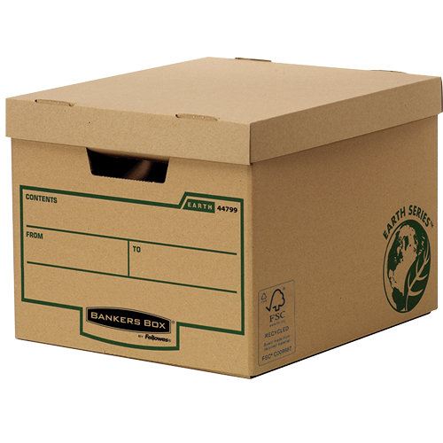 Bankers Box by Fellowes FSC Earth Series Standard Storage Box Heavy-duty Brown Ref 4479901 [Pack 10]