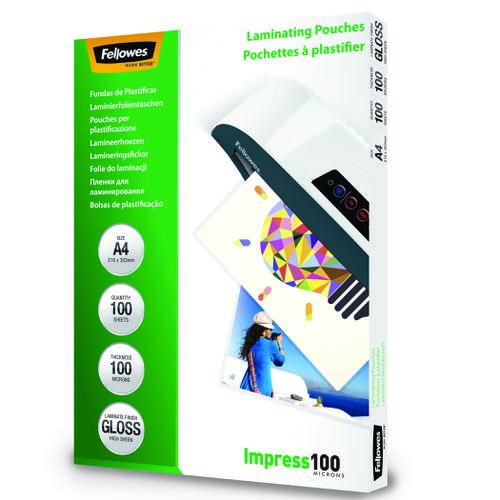 Fellowes Laminating Pouch A4 2x100 micron 5351111 (PK100)