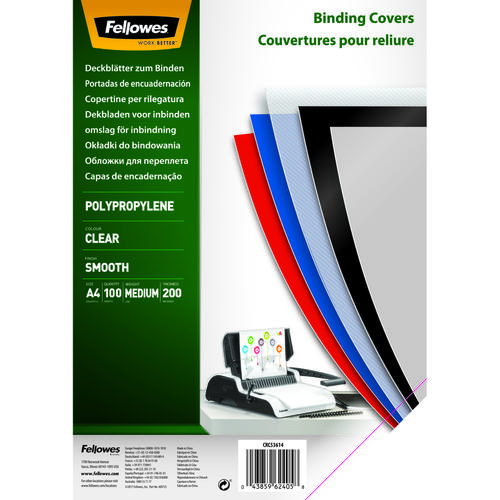 Fellowes Earth Clear Polyprop CVR 200MIC A45361401 (PK100)