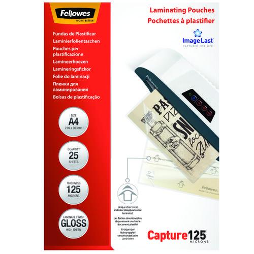Fellowes Laminating Pouch A4 2x125 micron 5396301 (PK25)