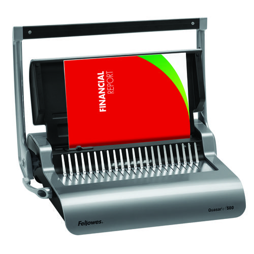 Fellowes Quasar+ 500 High Volume Use Office Manual Comb Binder 5627701