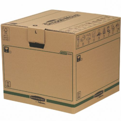 Fellowes Bankers Box Moving Box Large Brown Green (Pack of 5) 6205301