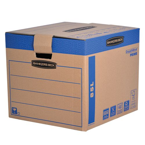 Fellowes Smooth Move Bankers Box Removal Boxes Large 457x457x406mm Ref 6205301 [Pack 5]