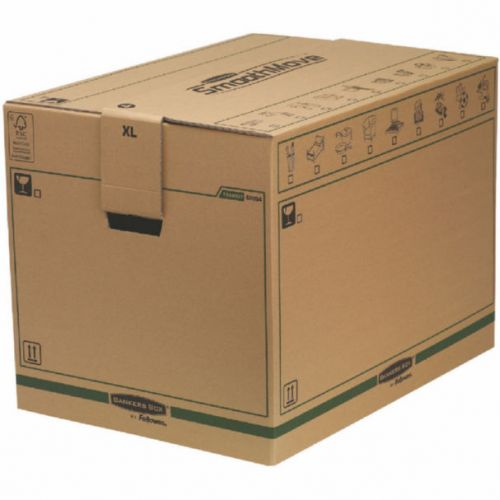 Fellowes Bankers Box Moving Box X-Large Brown Green (Pack of 5) 6205401 BB60705