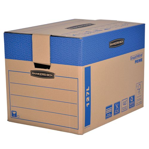 Fellowes Bankers Box Moving Box X-Large Brown Green (Pack of 5) 6205401