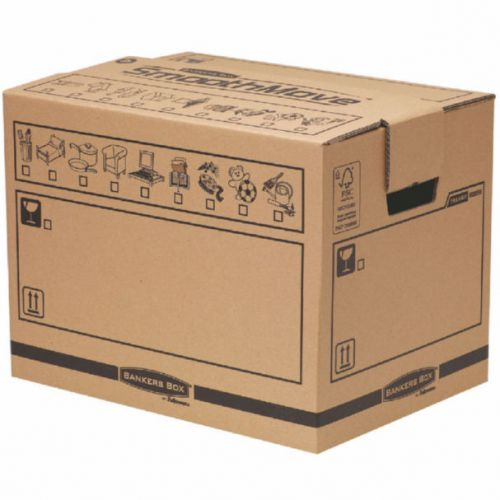 Bankers Box Manual Removal Box Book Box H340xW320xD450mm (Pack of 5) 6205603
