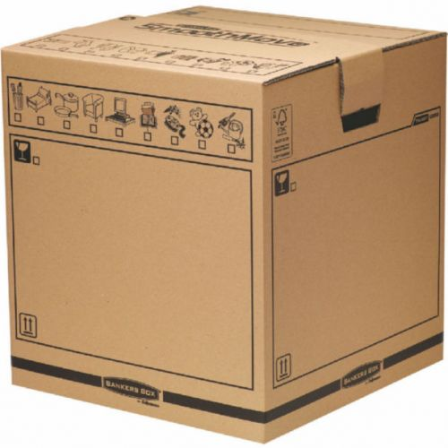 Bankers Box Brown Manual Removal Box Tea Chest H500xW457xD457mm (Pack of 5) 6205801 BB66883