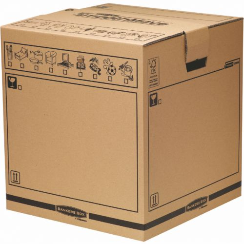 Bankers Box Brown Manual Removal Box Tea Chest H500xW457xD457mm (Pack of 5) 6205801