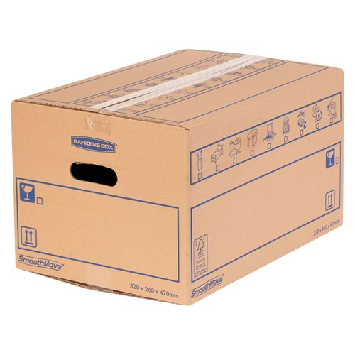 Bankers Box SmoothMove Standard Moving Box 320x260x470mm (Pack of 10) 6207201