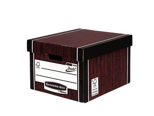 Fellowes Bankers Box Premium Classic Storage Box Presto Board Woodgrain (Pack 10)