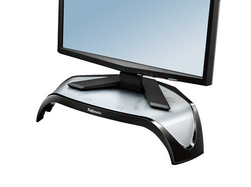 Fellowes Smart Suites TFT Monitor Riser Triangular Three Height Adjustment Capacity 21in 10kg Ref 8020101