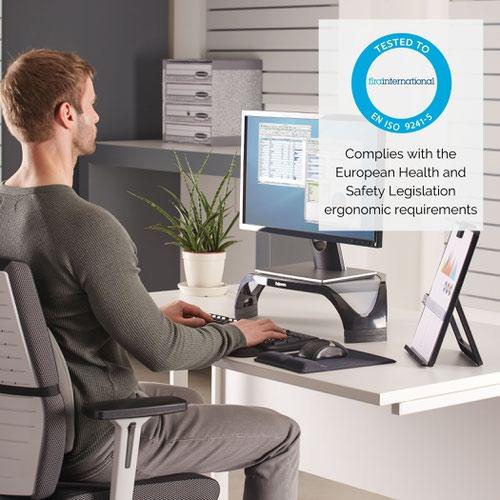 Fellowes Smart Suites Monitor Riser Black/Silver 8020101